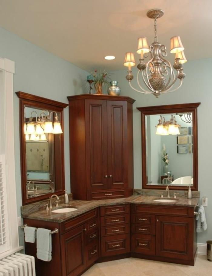 Le miroir salle de bain l ment cl de la d coration for Lustre salle de bain moderne