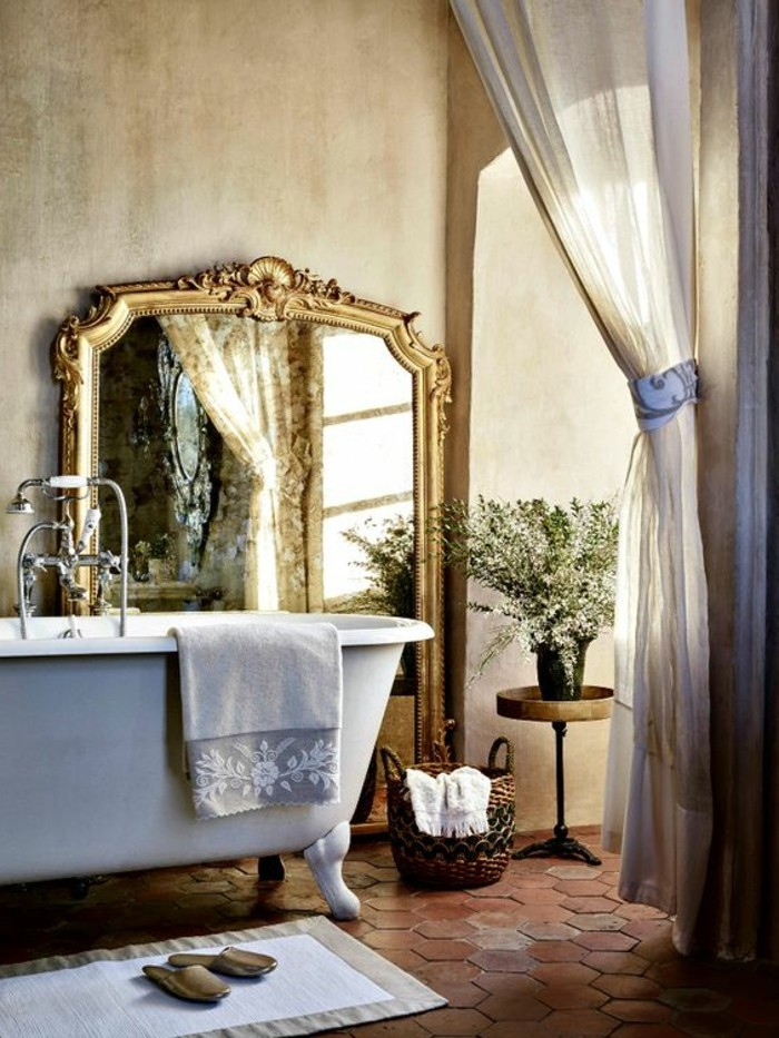 miroir-salle-de-bain-miroir-elegant-lavabo-blanc-et-un-rideau