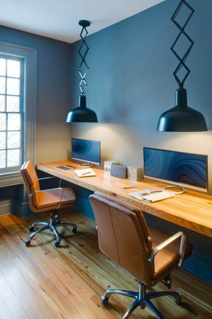 mobilier-de-bureau-contemporain-bureau-de-deux-personnes-grandes-lampes-industrielles