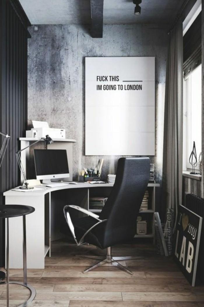 Un joli bureau style industriel – belle idée pour l'utilisation ...