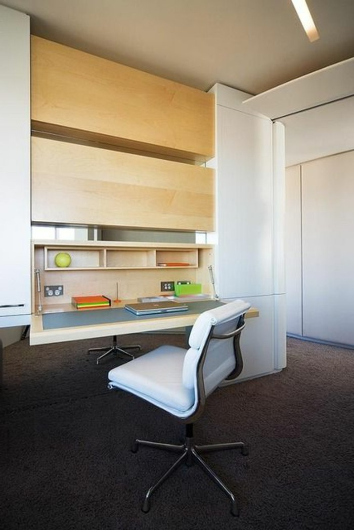 Le mobilier de bureau contemporain 59 photos inspirantes - Bureau escamotable mural ...