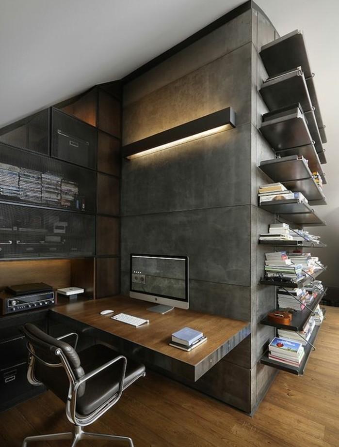 mobilier-de-bureau-contemporain-bureau-style-industriel-chaise-ergonomique
