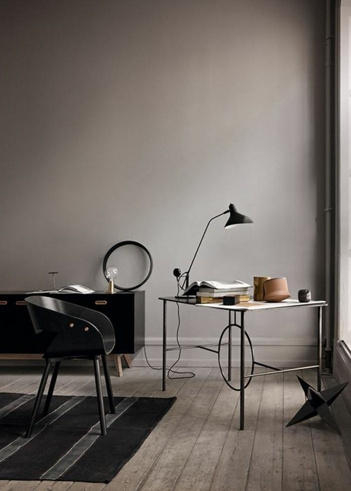 mobilier-de-bureau-contemporain-petit-meuble-bureau-peinture-murale-grise
