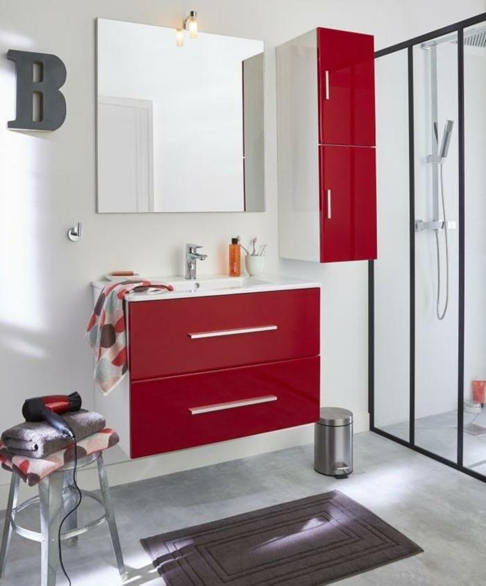 Meuble salle de bain rouge pas cher ensemble meuble salle - Muebles castor ...
