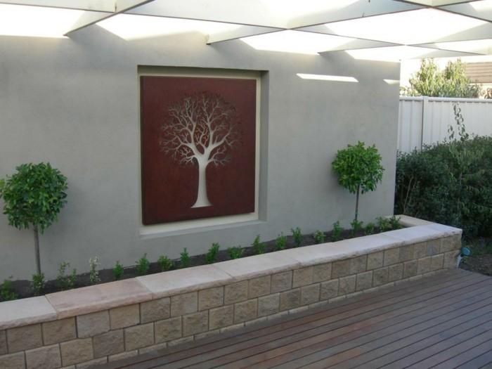 D coration murale ext rieure 72 id es et conseils en - Deco design jardin ...