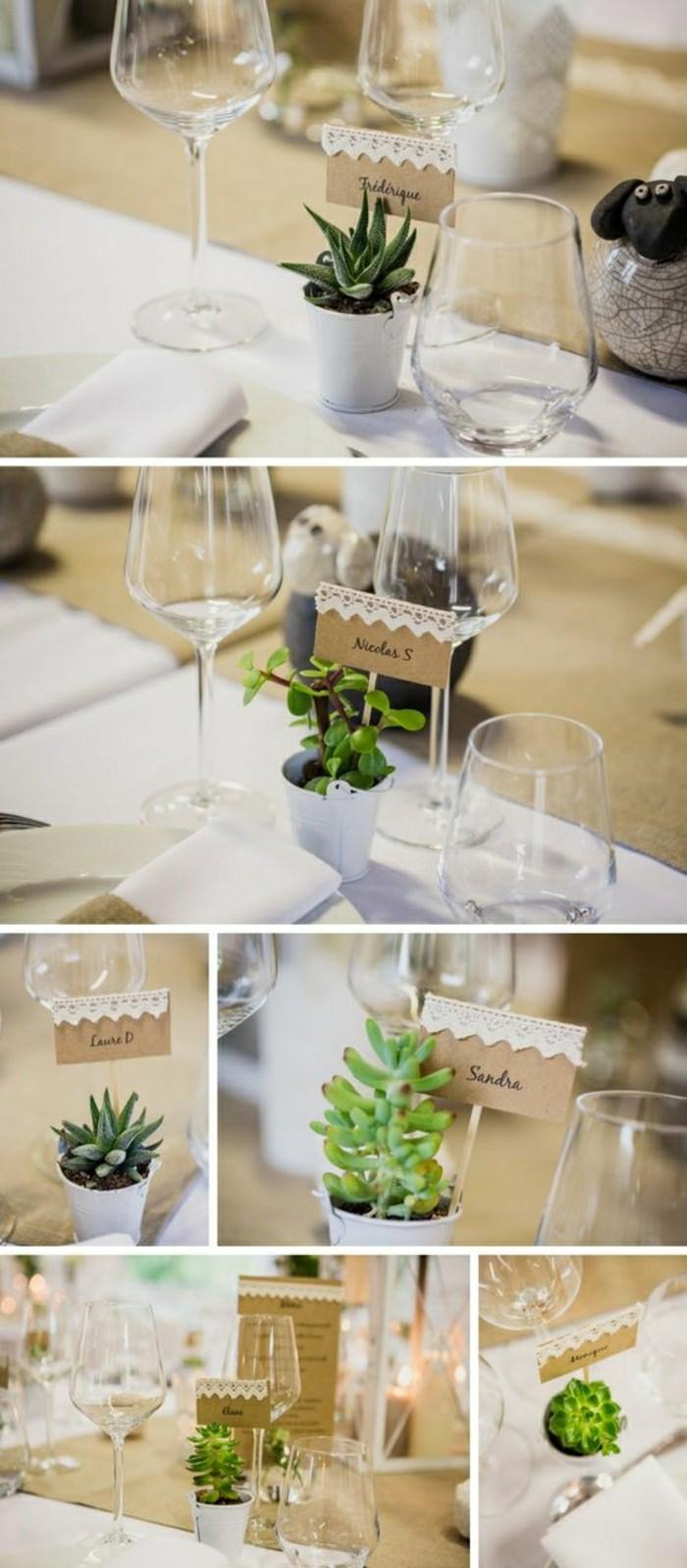 originale-idee-deco-table-mariage-avec-plante-verte-décoration-de-table-mariage-avec-plantes-vertes-en-cache-pot