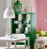 peinture murale tendance mur rose plantes vertes d intérieur meuble séparation pièce étagère blanche