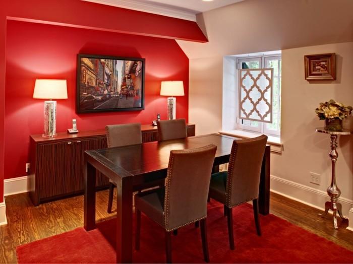 peinture-salle-à-manger-rouge-ambiance-sophistiquée-et-élégante