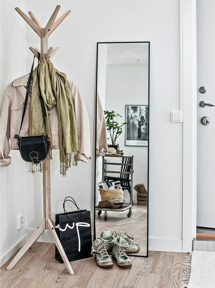 petit-entree-avec-sol-en-parquet-clair-murs-blancs-porte-manteau-grand-miroir-rectangulaire