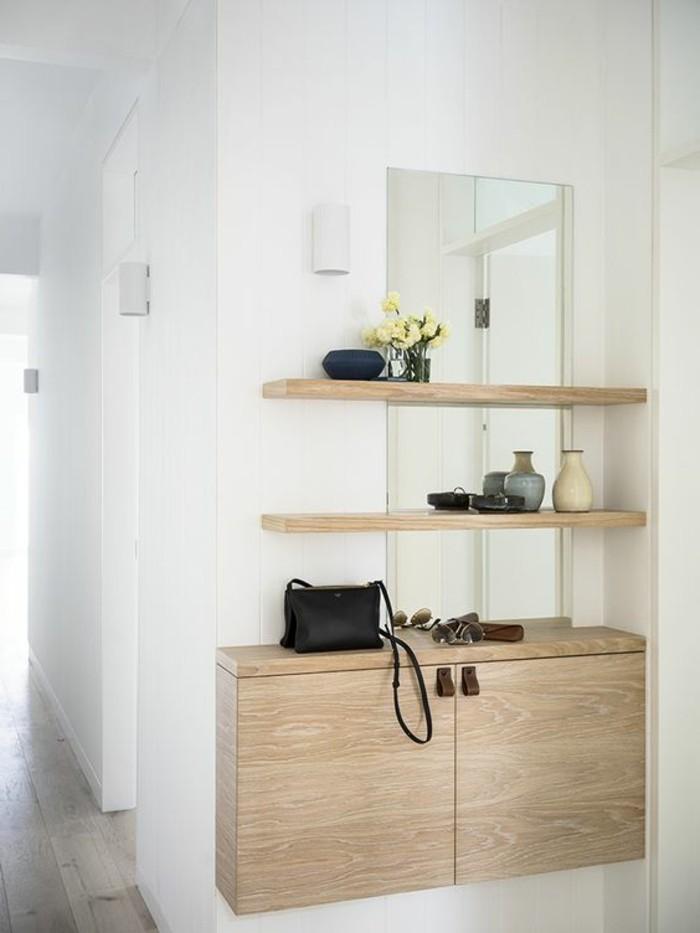 petite-console-d-entree-en-bois-clair-sol-en-parquet-gris-murs-blancs-idee-meubles-entree