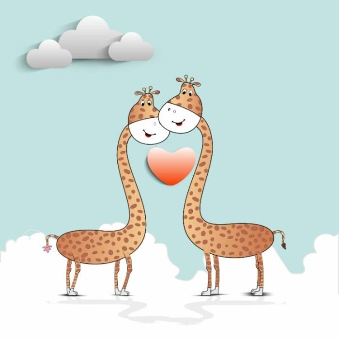 photos-st-valentin-bon-saint-valentin-carte-virtuelle-giraffes