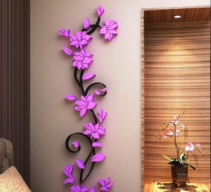 Decoration murale geante id es conseils et combinaisons - Decoration murale fleur ...