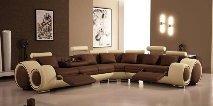 quelle-peinture-choisir-pour-votre-salon-une-formidable-idee-salon-en-marron-canape-design-sophistique-extraordinaire