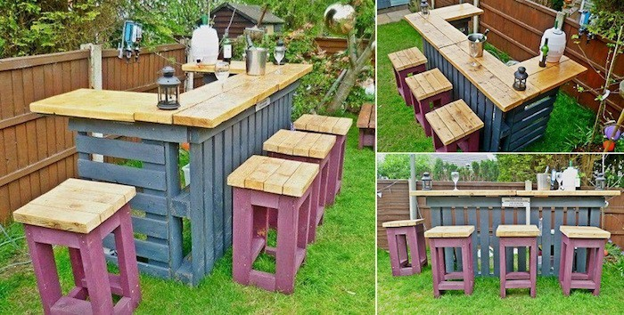 Emejing table haute de jardin en palette images amazing for Salon de jardin en palette