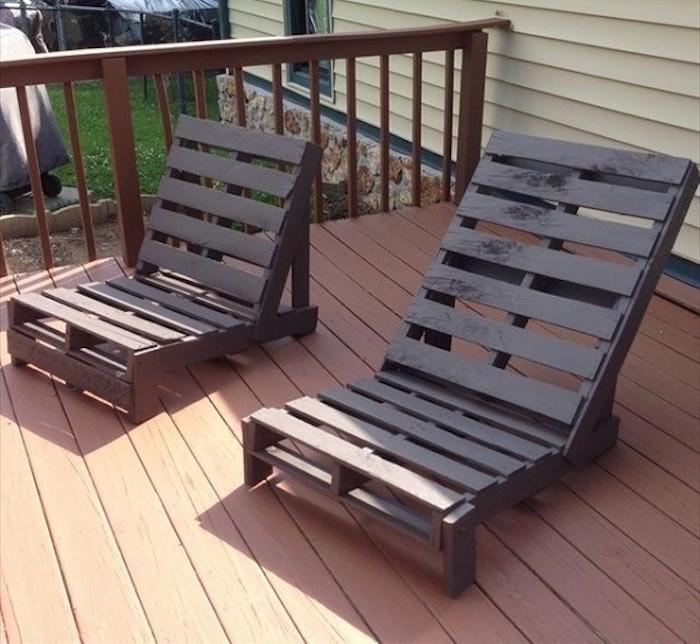 52 id es pour fabriquer votre meuble de jardin en palette for Fabrication de fauteuil de jardin en palette