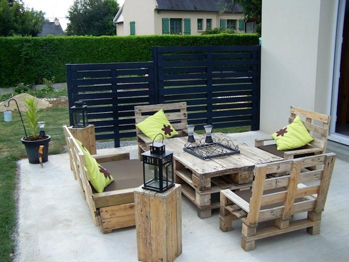 Salon de jardin en palette moderne - Reconquetefrancaise.fr