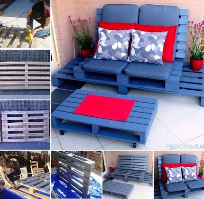 52 id es pour fabriquer votre meuble de jardin en palette - Idee lounge outs heeft eet ...