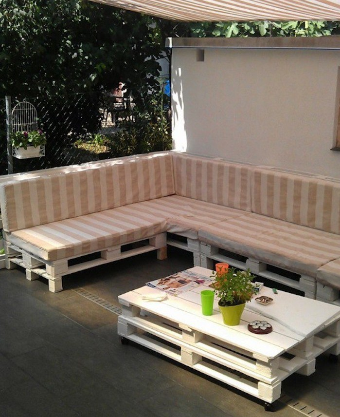 Coussin pour salon de jardin en palette des id es int ressantes pour la for Idee salon de jardin en palette