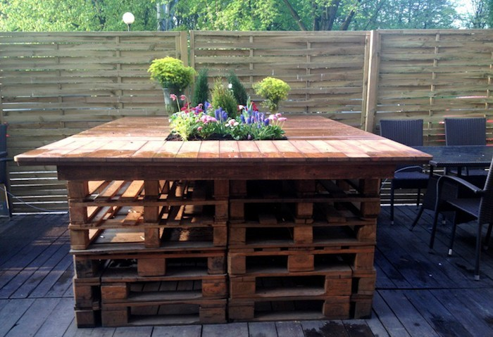 Charmant Salon De Jardin En Palette Table