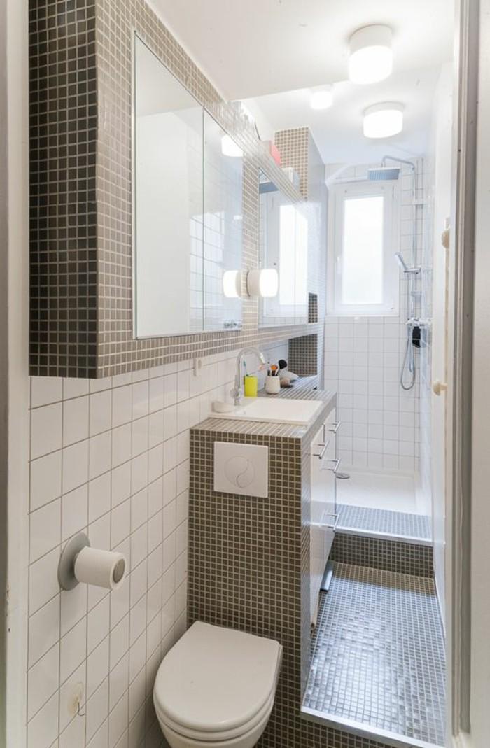 salle de bain mosaique blanche meubles gain de place sont obligatoires pour une petite salle de bain - Salle De Bain Mosaique Blanche