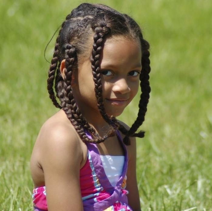 Tresse enfant \u2013 70 idées géniales pour les petites demoiselles
