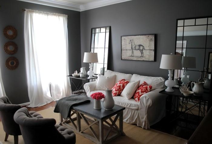 Couleur peinture salon conseils et 90 photos pour vous - Couleur peinture salon taupe ...