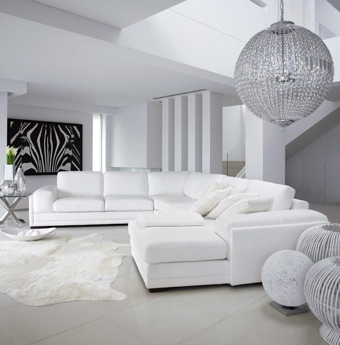 superbe-suggestion-couleur-mur-salon-blanc-meubles-blancs-tableau-zebre-lustre-somptueux