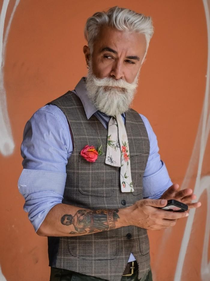 coloration cheveux homme - cheveux grises homme