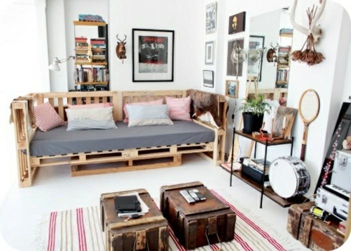 comment fabriquer un canap en palette tuto et 60 super id es. Black Bedroom Furniture Sets. Home Design Ideas