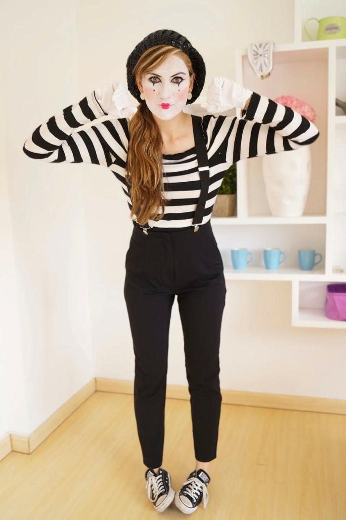 une,autre,suggestion,deguisement,halloween,facile,femme,mime