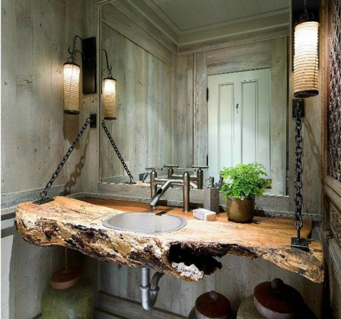vasque-salle-de-bain-bois-fleur-lampes-vert-fleur