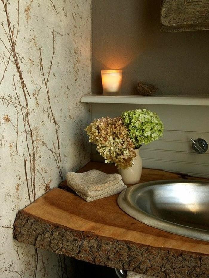 vasque-salle-de-bain-bois-fleur-miroir-mur