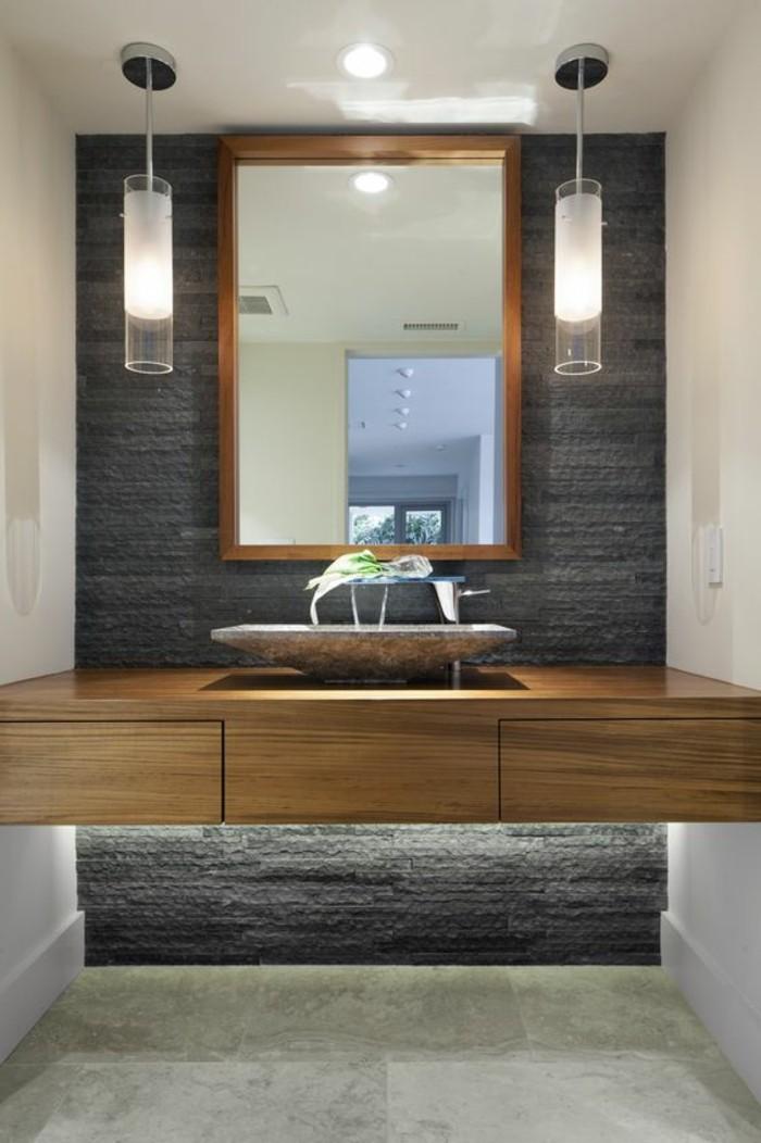 109 id es magnifiques pour votre vasque salle de bain - Salle de bain bois et gris ...