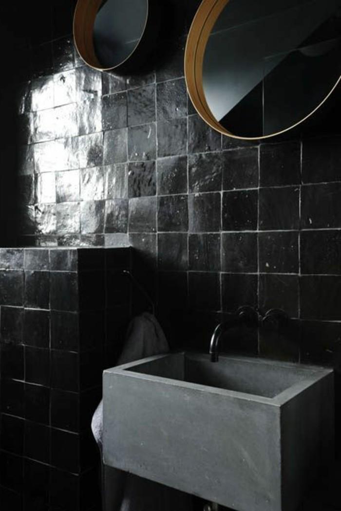 vasque-salle-de-bain-calme-rond-miroir-gris-carreau