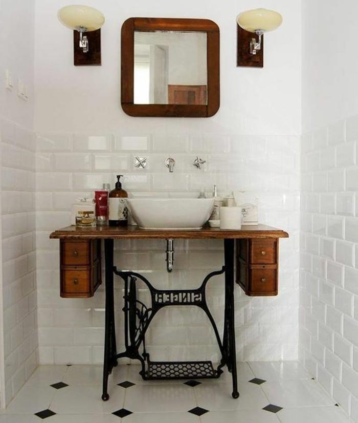 vasque-salle-de-bain-commode-bois-miroir-lampes