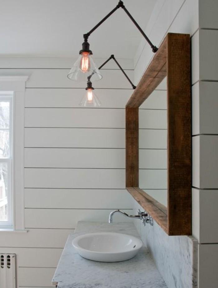 vasque-salle-de-bain-deux-lampe-miroir-bois-blanc-carreau