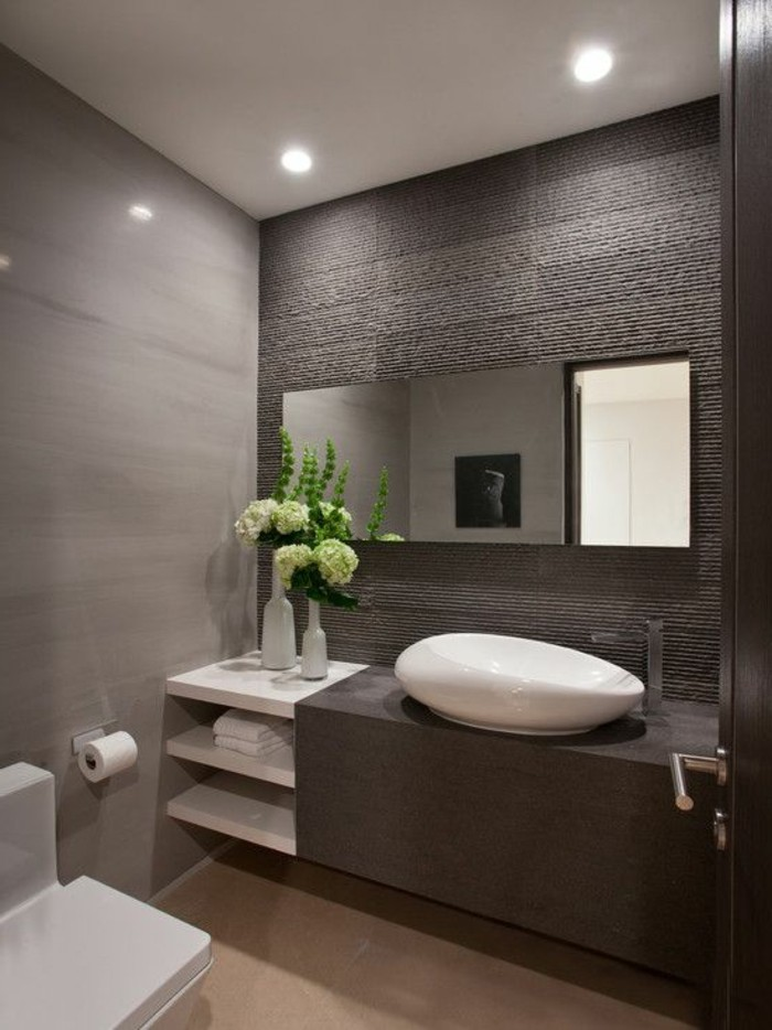 109 id es magnifiques pour votre vasque salle de bain - Salle de bain gris vert ...