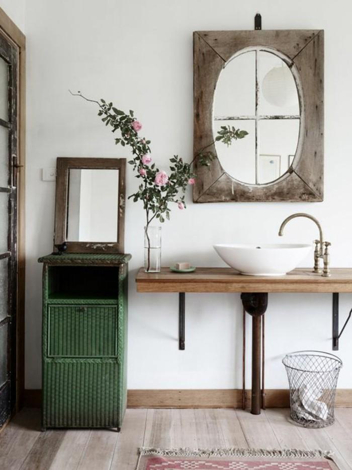 vasque-salle-de-bain-maison-campagne-miroir-fleur