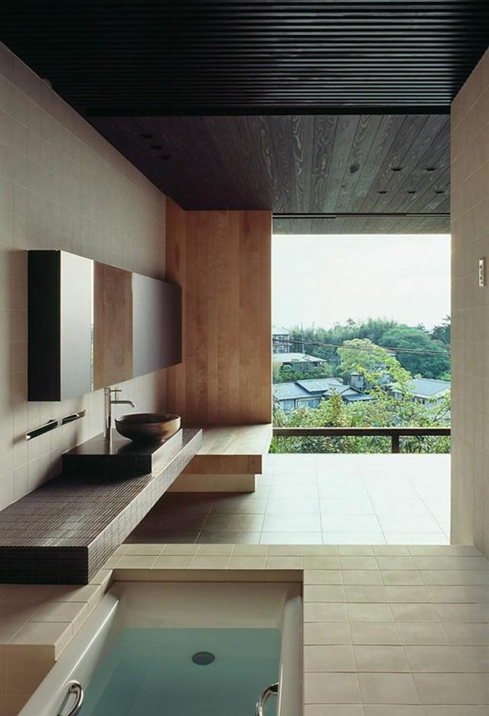 vasque-salle-de-bain-maison-moderne-miroir-vert