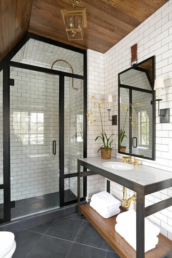 vasque-salle-de-bain-miroir-rectangulaire-mur-blanc-simple