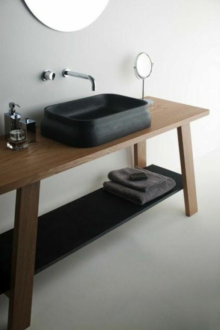 109 id es magnifiques pour votre vasque salle de bain for Miroir salle de bain noir