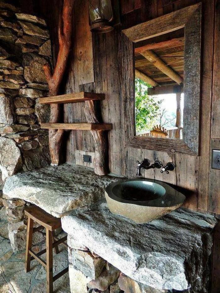 109 id es magnifiques pour votre vasque salle de bain - Salle de bain en pierre et bois ...