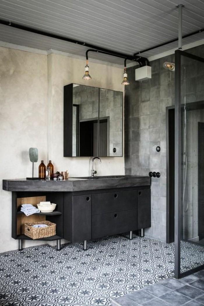 vasque-salle-de-bain-vaste-mur-gris-sol