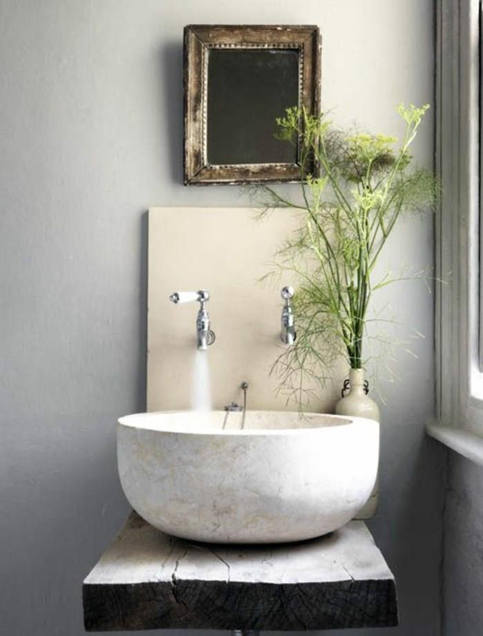 vasque-salle-de-bain-vert-fleur-miroir-mur-claire