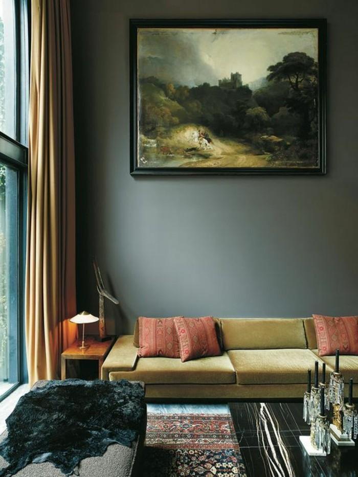 On met l 39 accent sur la couleur de peinture pour salon - Peinture lumineuse pour salon ...