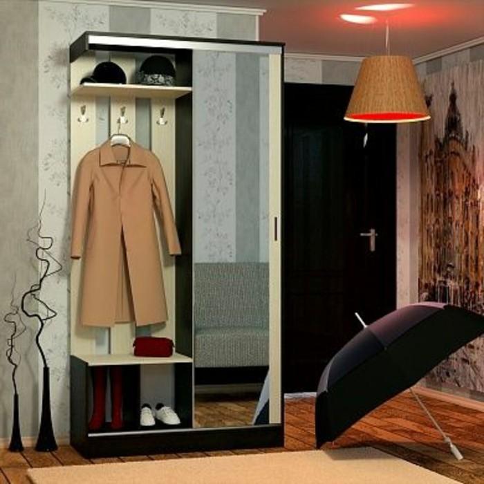 12-amenager-une-entree-une-lampe-allumee-une-parapluie-ouverte-un-manteau-suspendu