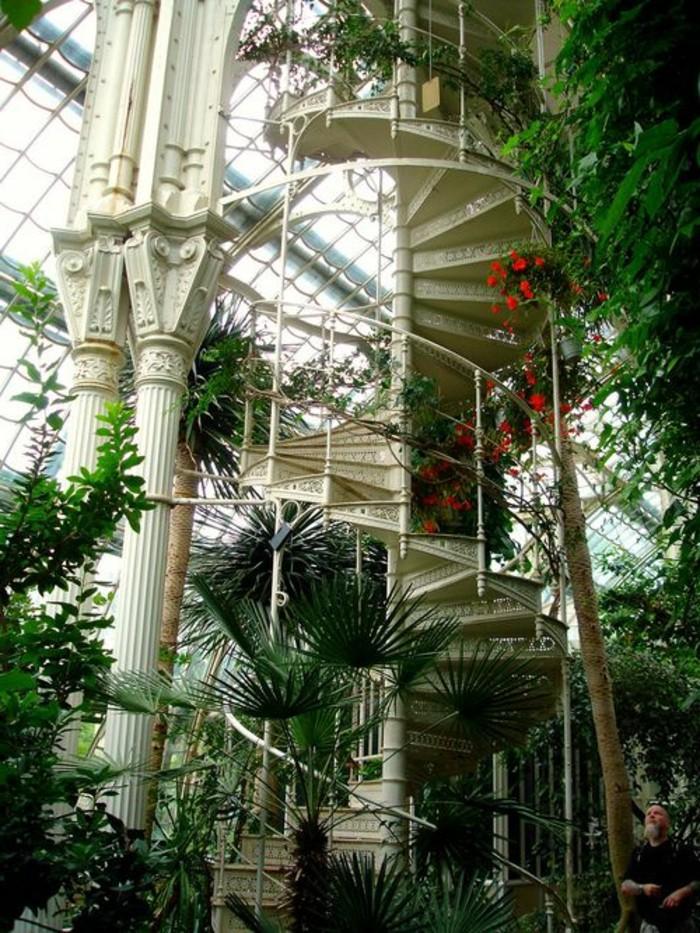 13-deco-couloir-un-escalier-avec-de-la-verdure