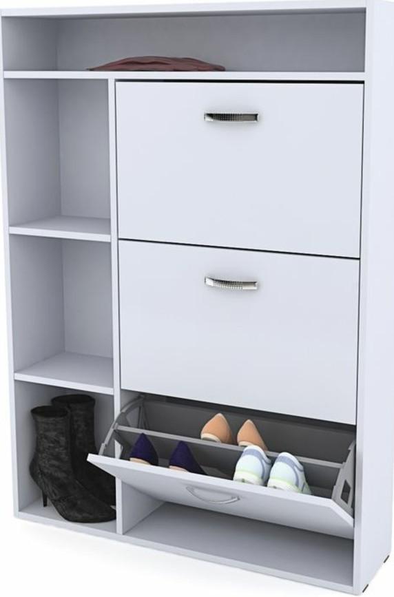 29-meuble-entree-un-placard-blanc-qui-contient-des-paires-de-chaussures