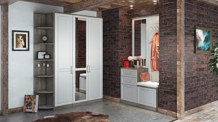 31-meuble-entree-une-garde-robe-et-un-placard-blanc-avec-un-miroir