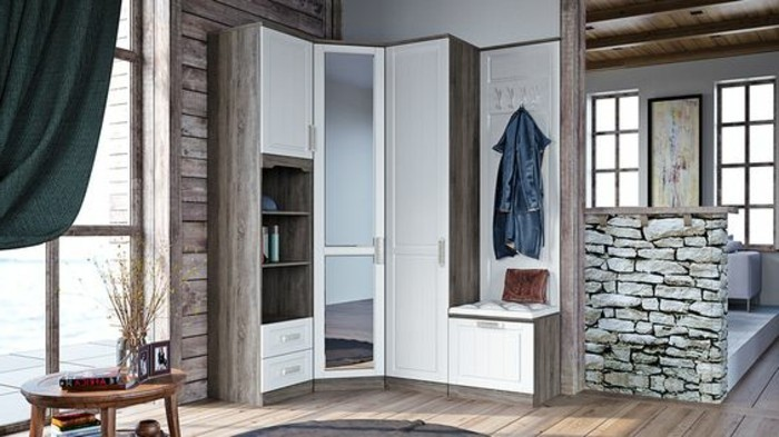 37-meuble-chaussure-une-garde-robe-un-manteau-suspendu-une-petite-table-en-bois